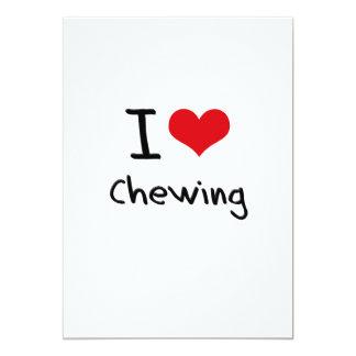 I love Chewing 5x7 Paper Invitation Card