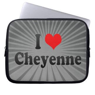 I Love Cheyenne, United States Laptop Computer Sleeve