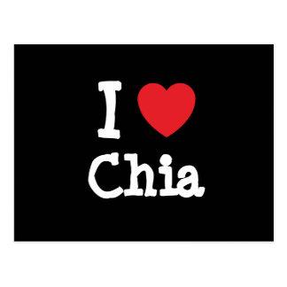I love Chia heart T-Shirt Postcard