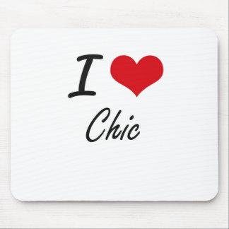I love Chic Artistic Design Mouse Pad