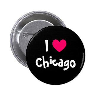 I Love Chicago 2 Inch Round Button