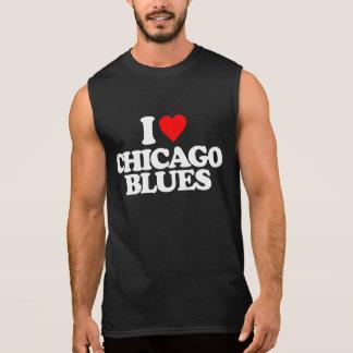 I LOVE CHICAGO BLUES SLEEVELESS SHIRT