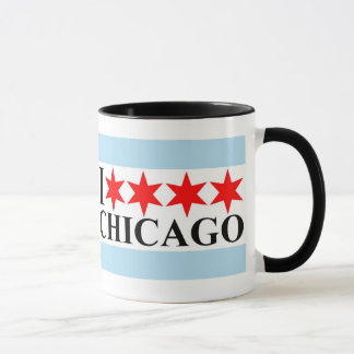 I Love Chicago - Chicago Flag Style Mug
