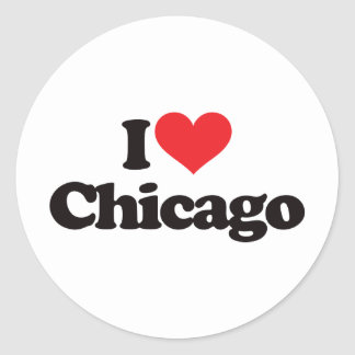 I Love Chicago Classic Round Sticker