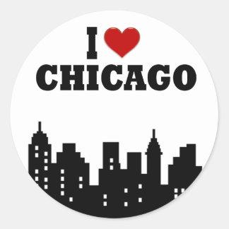 I Love Chicago Classic Round Sticker