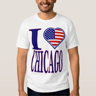 I Love Chicago Forth Of July Edition T-Shirt