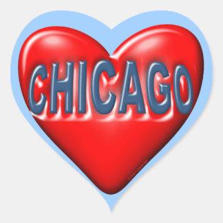 I Love Chicago Heart Sticker