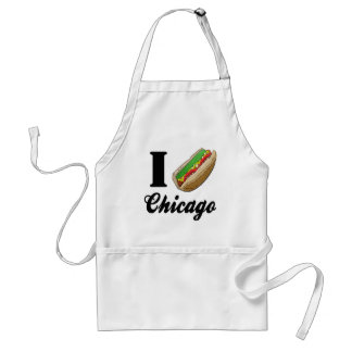 I Love Chicago Hot Dogs Adult Apron