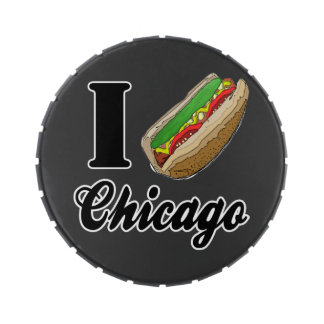 I Love Chicago Hot Dogs Candy tin