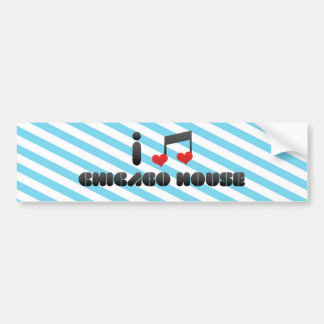 I Love Chicago House Bumper Sticker