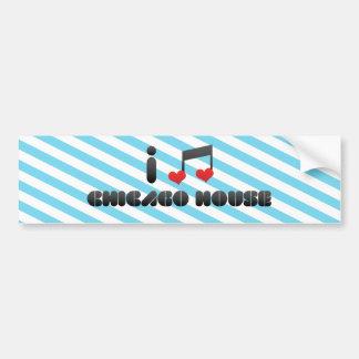 I Love Chicago House Bumper Sticker