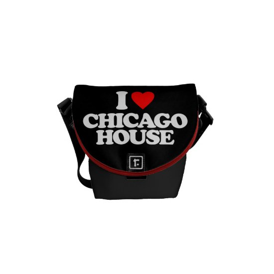 I LOVE CHICAGO HOUSE MESSENGER BAG