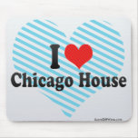 I Love Chicago House Mouse Pads