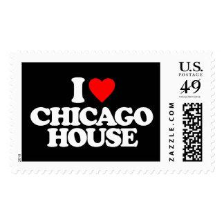 I LOVE CHICAGO HOUSE POSTAGE