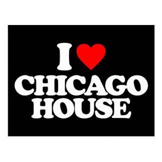 I LOVE CHICAGO HOUSE POSTCARD