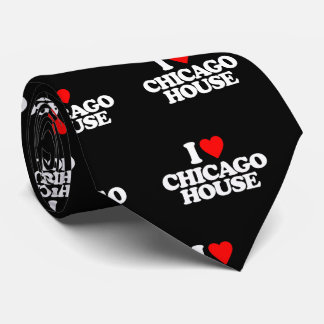 I LOVE CHICAGO HOUSE TIE