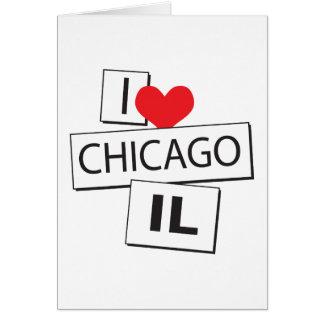 I Love Chicago IL Card