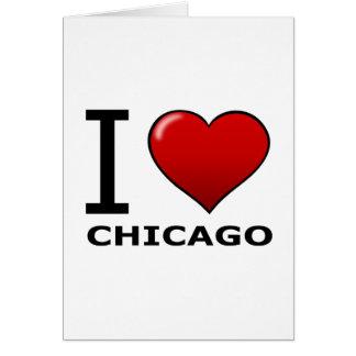 I LOVE CHICAGO, IL - ILLINOIS CARD