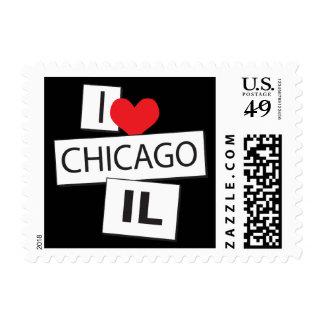 I Love Chicago IL Postage