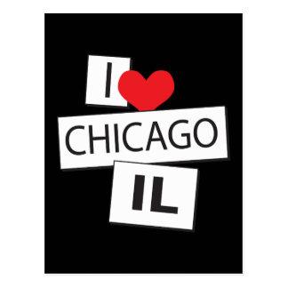 I Love Chicago IL Postcard