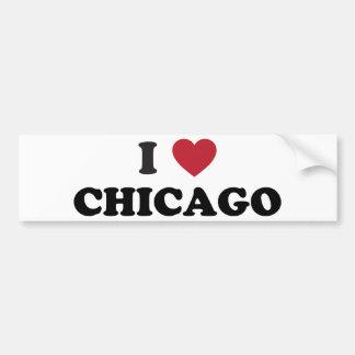 I Love Chicago Illinois Bumper Sticker