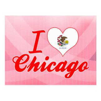 I Love Chicago, Illinois Postcard