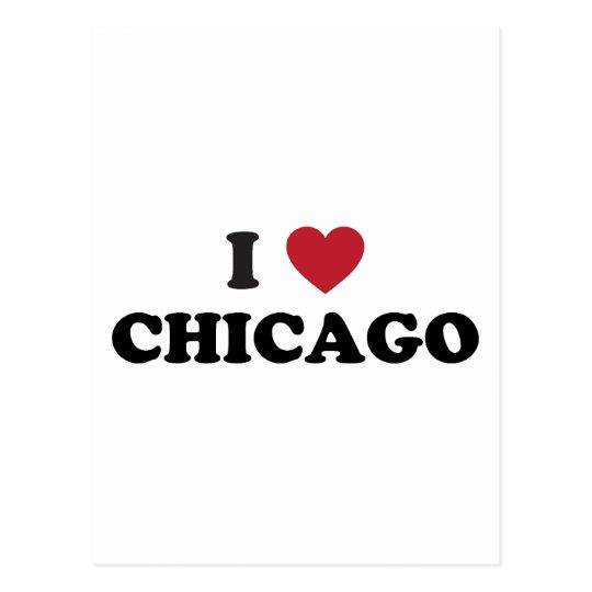 I Love Chicago Illinois Postcard