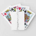I love Chicago in an extraordinary ecg style Bicycle Playing Cards