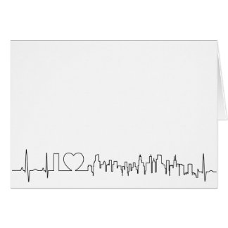 I love Chicago in an extraordinary ecg style Card