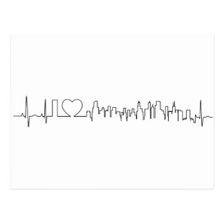 I love Chicago in an extraordinary ecg style Postcard
