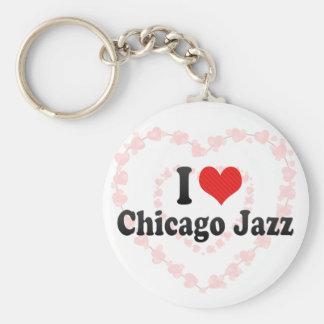 I Love Chicago Jazz Keychain