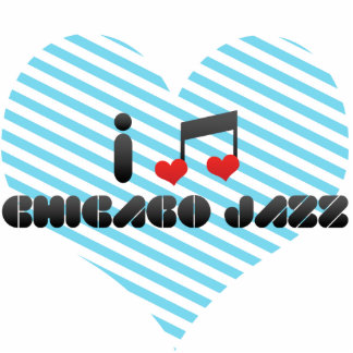 I Love Chicago Jazz Cut Out