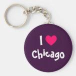 I Love Chicago Keychains
