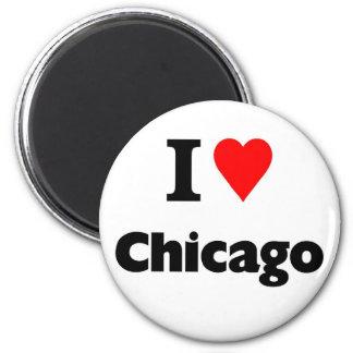 I love chicago 2 inch round magnet