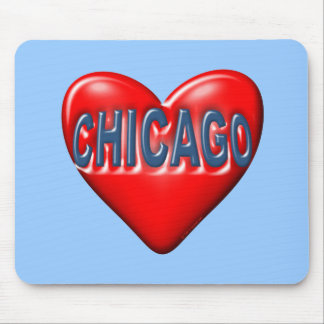 I Love Chicago Mouse Pad