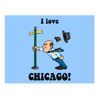 I love Chicago Postcard