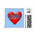 I Love Chicago Stamp