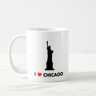 I Love Chicago - Statue of Liberty Coffee Mug
