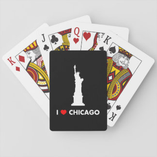 I Love Chicago - Statue of Liberty Playing Cards