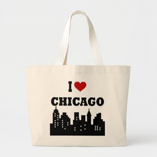 I Love Chicago Tote Bags