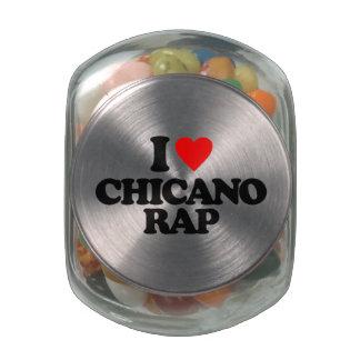 I LOVE CHICANO RAP GLASS CANDY JAR