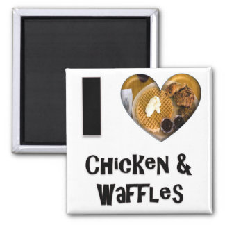 I Love Chicken and Waffles Magnet