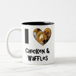 I Love Chicken and Waffles Two-Tone Coffee Mug