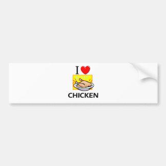I Love Chicken Car Bumper Sticker