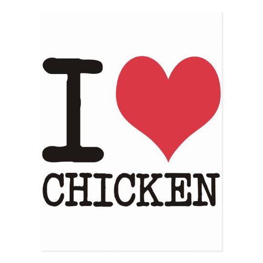I Love Chicken - Champagne - Cocktail Products! Postcard