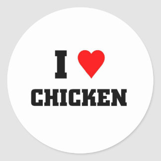 I love Chicken Classic Round Sticker