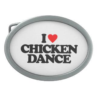 I LOVE CHICKEN DANCE OVAL BELT BUCKLE