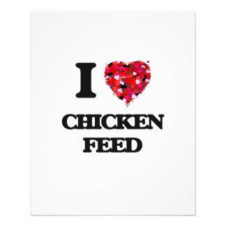"I love Chicken Feed 4.5"" X 5.6"" Flyer"