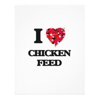 "I love Chicken Feed 8.5"" X 11"" Flyer"