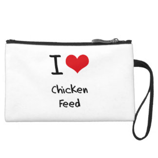 I love Chicken Feed Wristlet Purses
